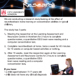 Volunteers Needed for Neurofeedback Research
