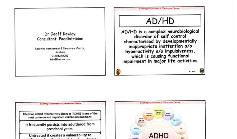 ADHD Presentation Dr Kewley