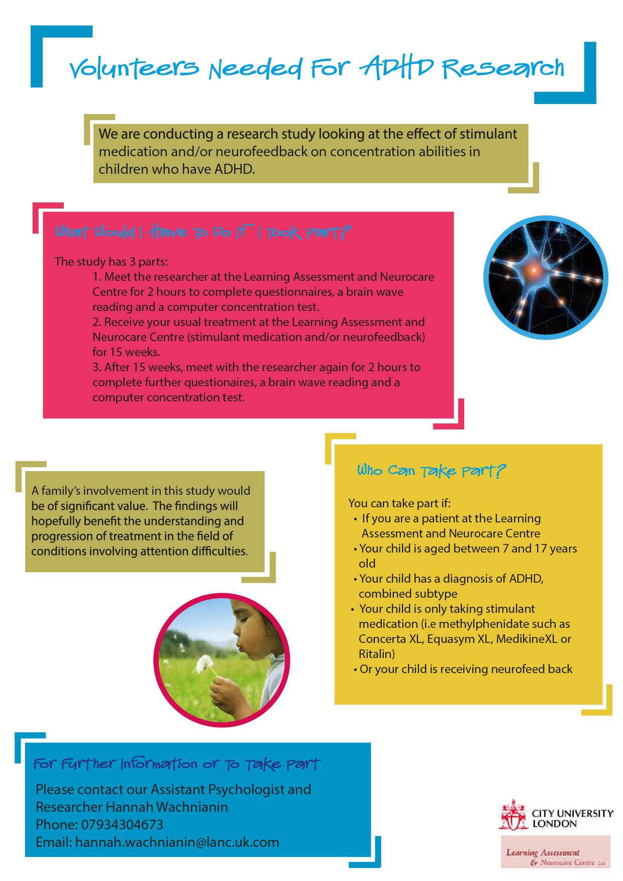 ADHD volunteer leaflet